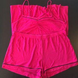 Pink and black trim target pajamas